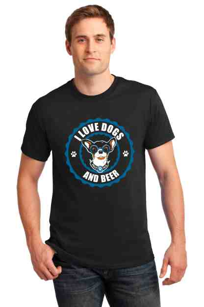 LOVE DOGS AND BEER MEN FRONT CREW