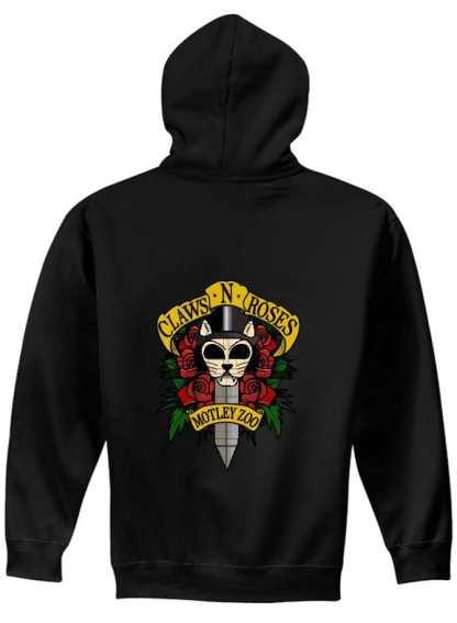 Claws N roses FULL ZIP hoodie BACK model