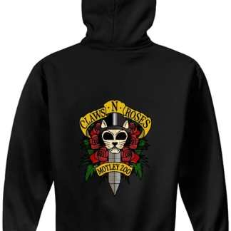 Claws N roses FULL ZIP hoodie BACK model