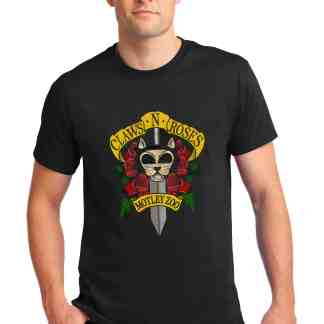 Claws and roses men tee front