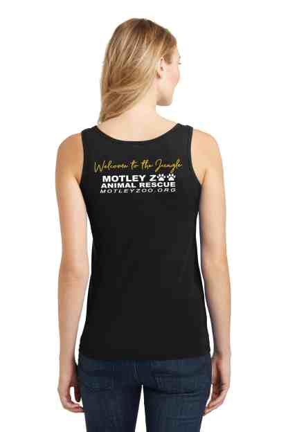 WOMEN TANK TOP claws roses BACK