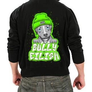bully eilish hoodie- back