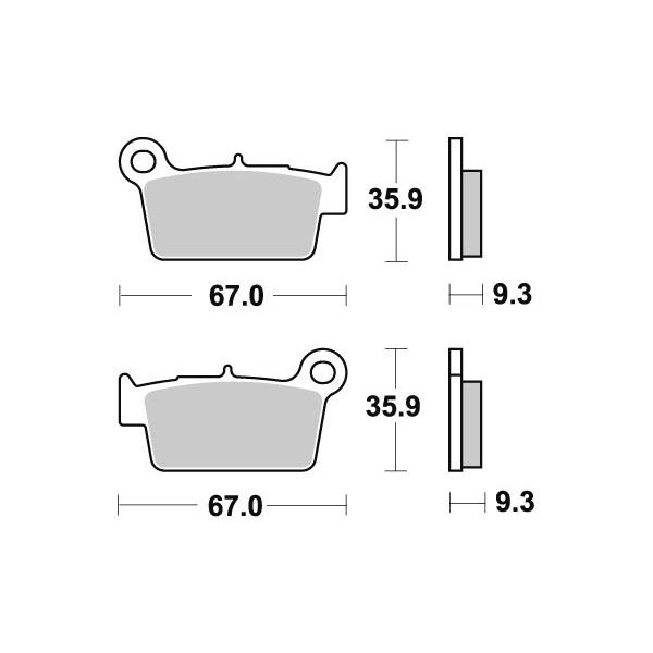 Тормозные колодки, задние Sinter / SBS 790SI для мотоцикла
