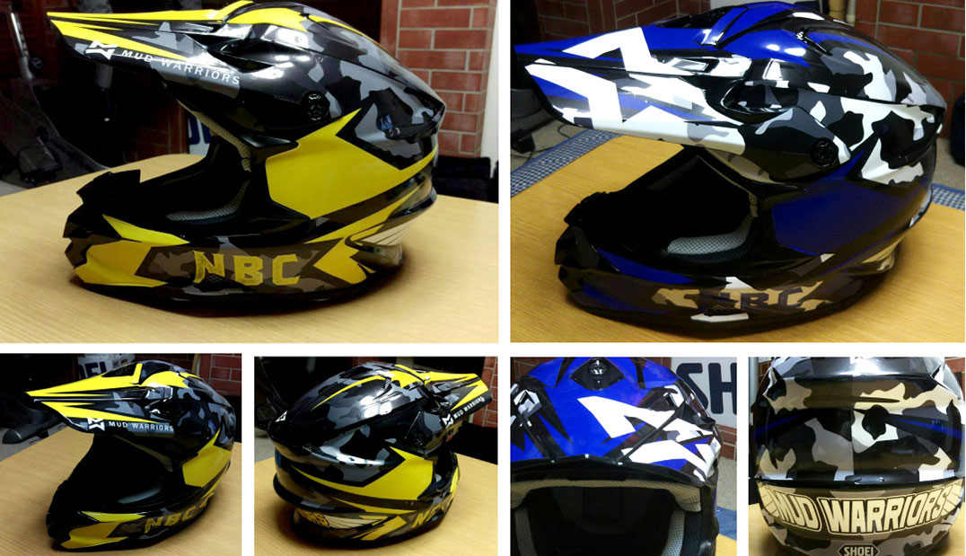 SHOEI VFX-W Helmet Wrapping Graphic Design