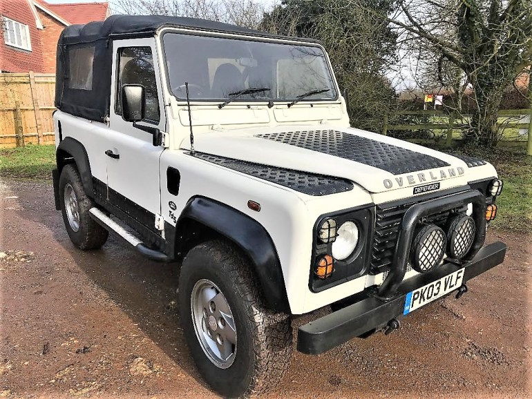 2003 Defender 90 TD5 soft top for sale at motodrome