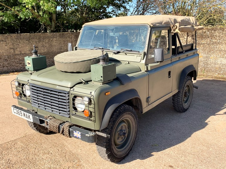 1986 land rover 90 ex-military soft top 200tdi power for sale at motodrome