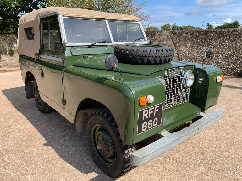 1961 series II 88in petrol soft top for sale