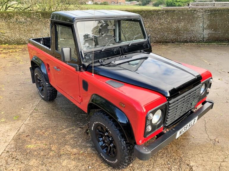 1996 LAND ROVER Defender 90 300TDi Truck Cab £11995 FOR SALE AT MOTODROME