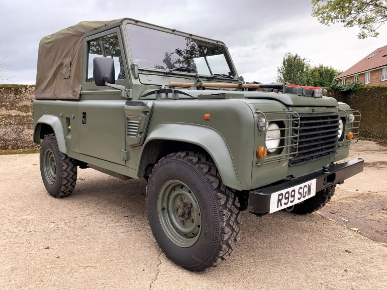 1998 land roverDefender 90 300TDi Wolf soft top £15995 for sale at motodrome