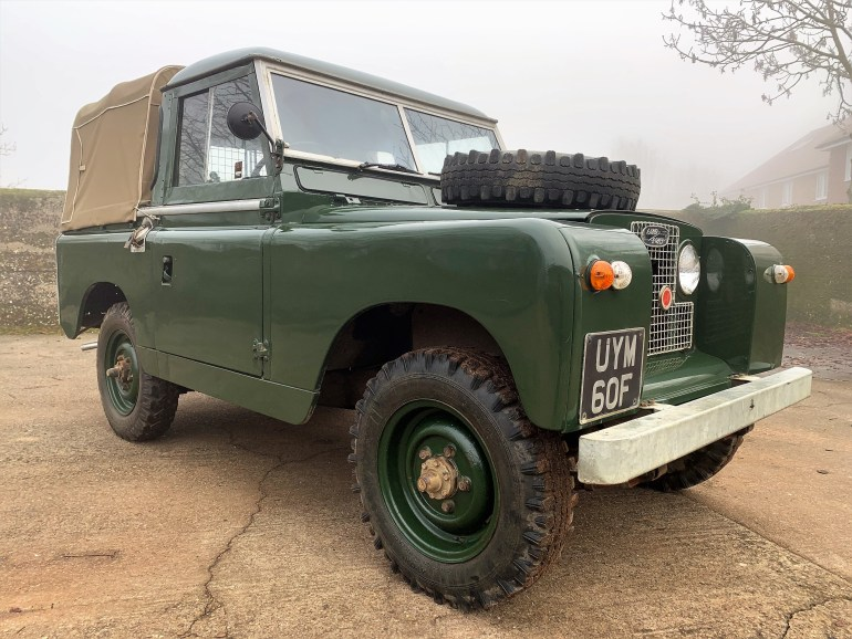 1968 LAND ROVER SERIES IIa 88IN PETROL TRUCK CAB  FOR SALE AT MOTODROME THE CLASSIC LAND ROVER SPECIALISTS