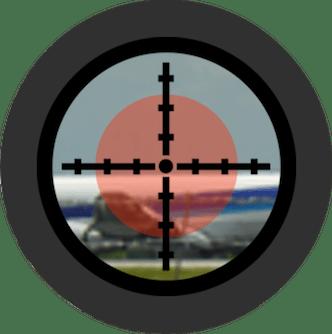 航空管制ライトガン赤
