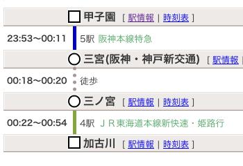 加古川・終電