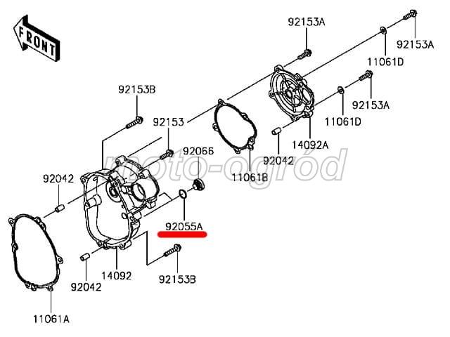 O-ring 13,8 śruby pokrywy silnika ZX-10R Sklep internetowy