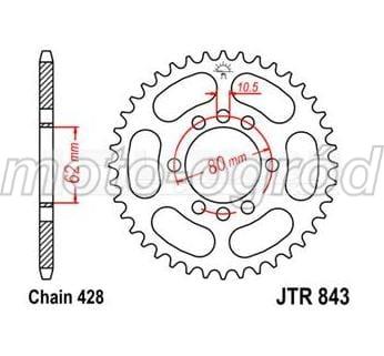 Zębatka napędowa tylna stalowa JT JTR843-49 r. 428 (49