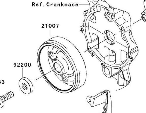 Rotor Kawasaki ZX-6R koło magnesowe Sklep internetowy moto