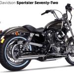 Exhaust Ironhead Harley Davidson Sportster Xl 883 1200 04 13 Moto Parts