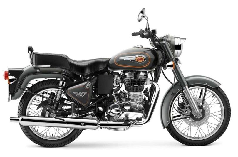 bullet grise classic bike esprit royal enfield. Black Bedroom Furniture Sets. Home Design Ideas