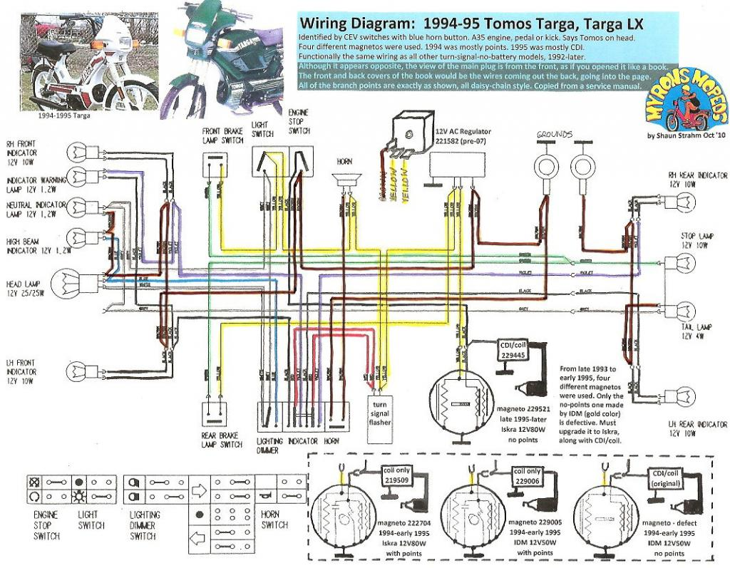 50cc mini chopper wiring diagram toshiba laptop charger tomos engine circuit maker