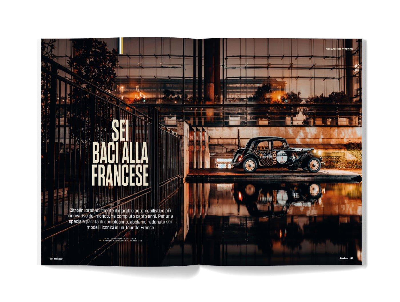 sei baci alla francese rivista TopGear Italia 2020
