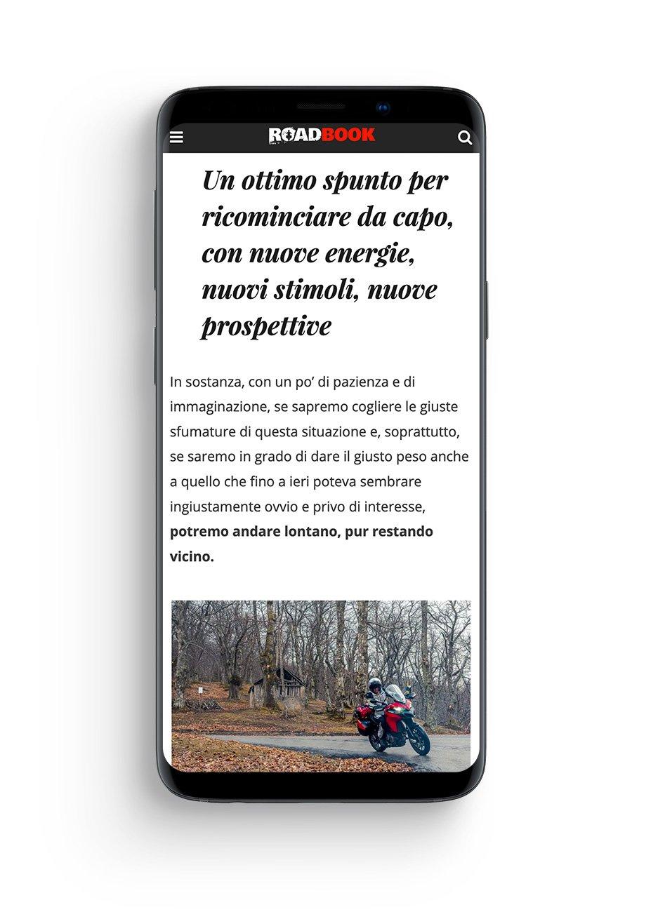 sito rivista Roadbook mobile