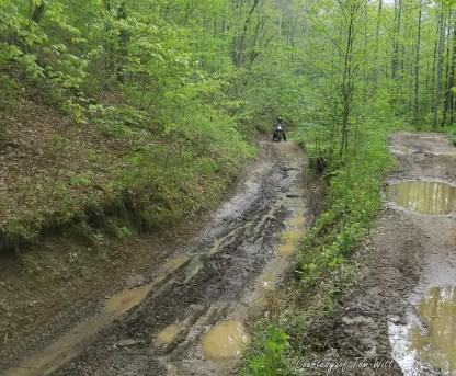 Spaas Creek Drop Off Triumph Scrambler MotoADVR