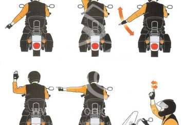 Signaux de base des motards