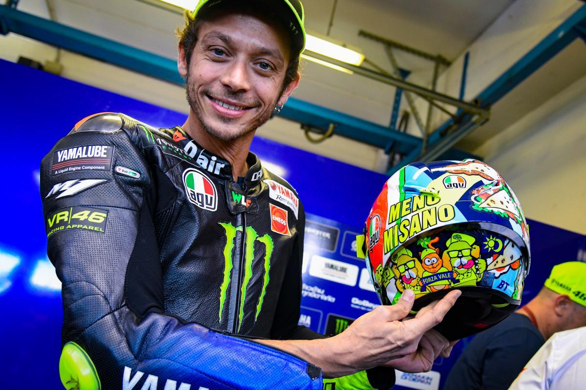 Rossi dévoile un casque spécial pour Misano 2019