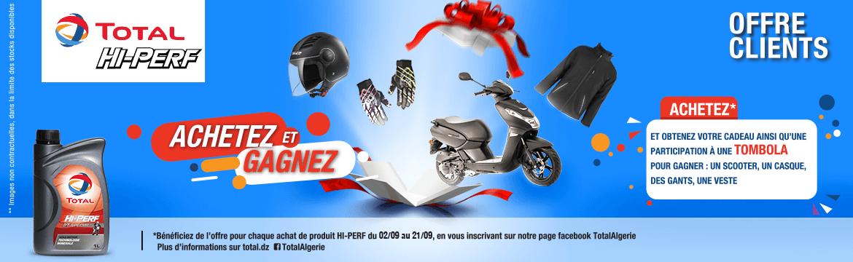 TOTAL Algérie : Un Scooter et des équipements motard à gagner!