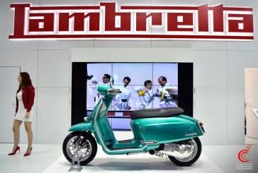 Lambretta affiche FUL autour de son Concept G325 Special à EICMA