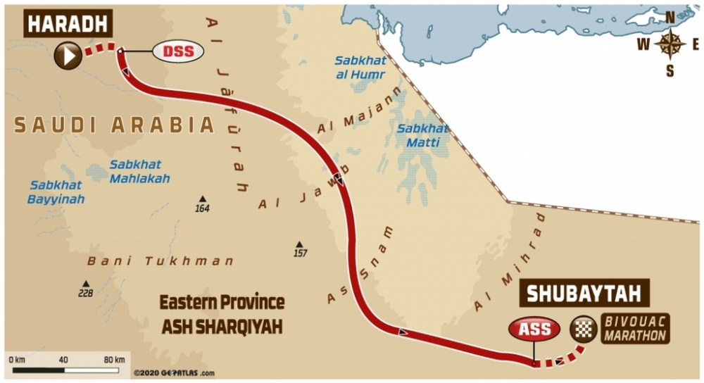 Dakar 2020 - Carte étape 10