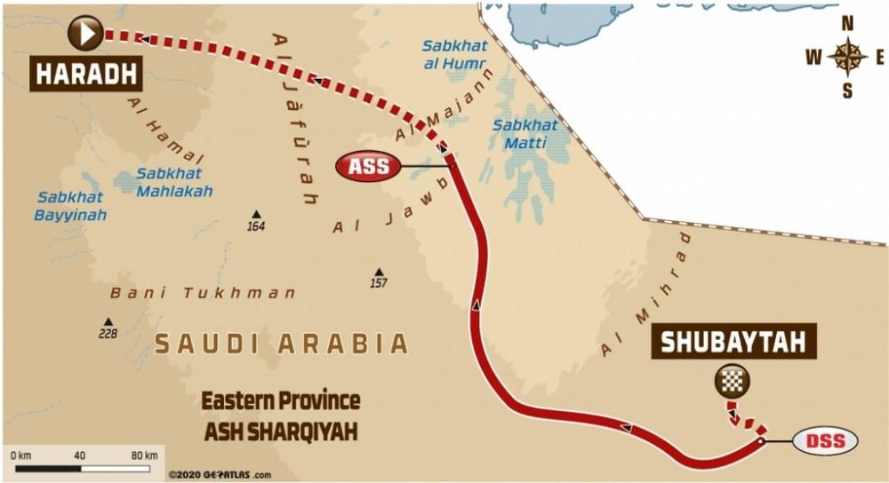 Dakar 2020 - Carte étape 11