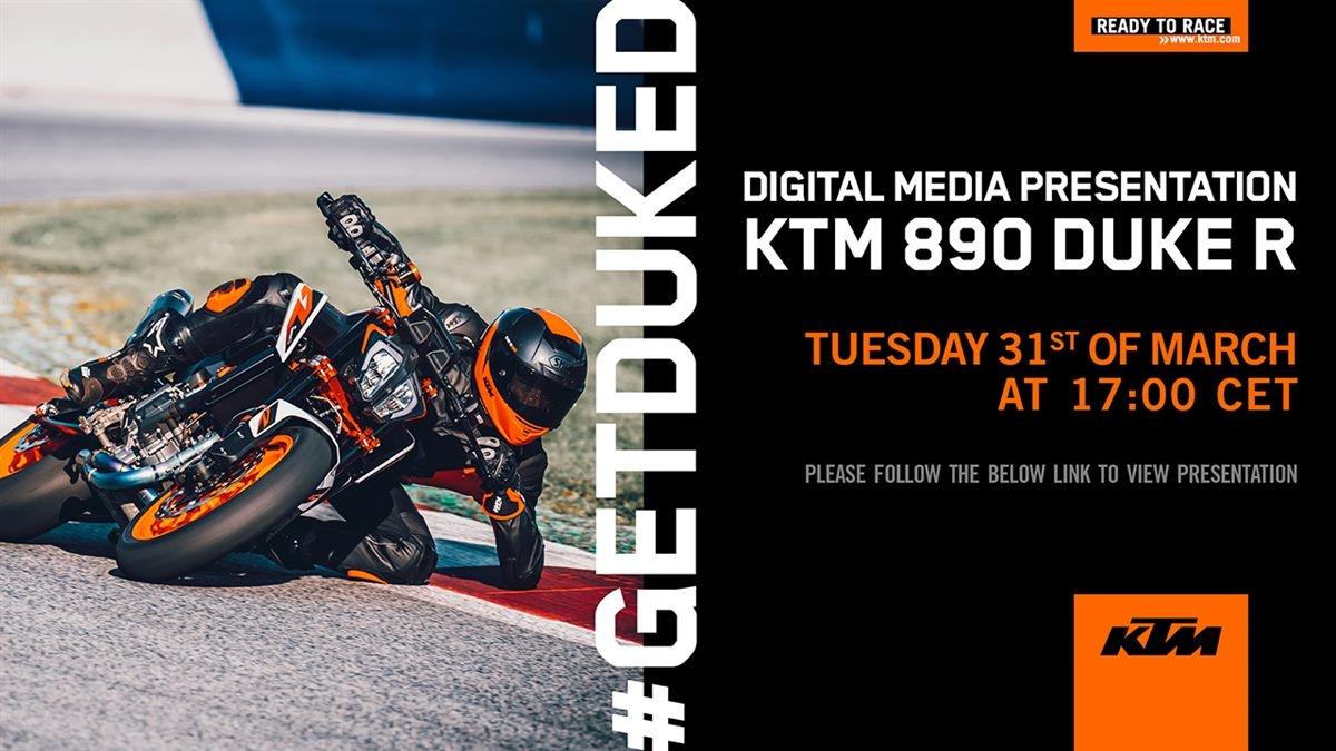 KTM Présente, en direct, la nouvelle 890 DUKE R !