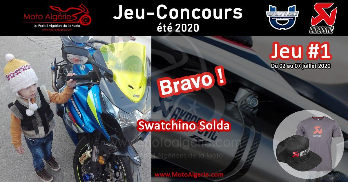 JEU-CONCOURS Moto Algérie – été 2020 : gagnant du JEU#1 avec Akrapovic Algérie !