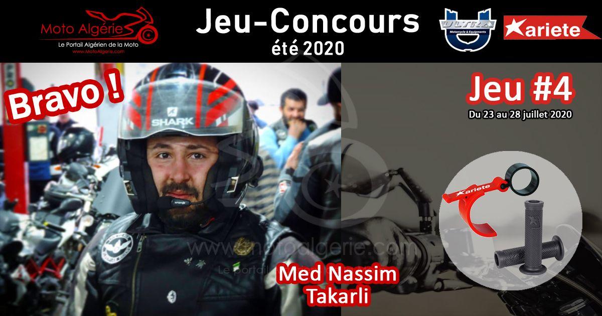 JEU-CONCOURS Moto Algérie – été 2020 : gagnant du JEU#4 avec Ariete Algérie !