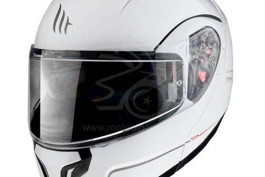 MT Helmets ATOM SV Solid GLOSS PEARL WHITE