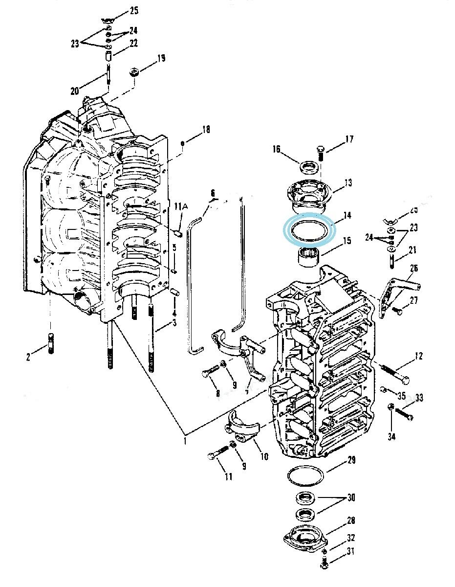 Garnitura Oring Motor Mercury 70-225 CP