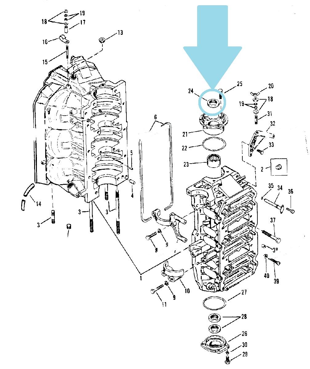 Garnitura Ulei Motor Mercury 30-250 CP