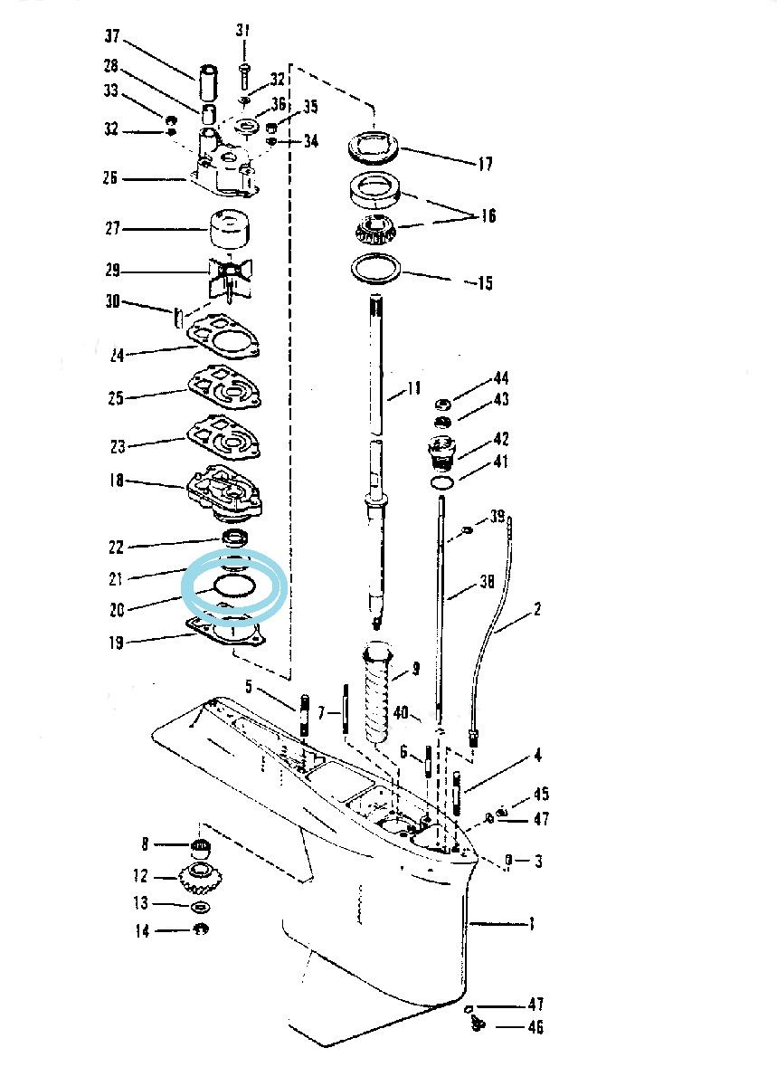 Oring Pompa Apa Motor 30-250 CP