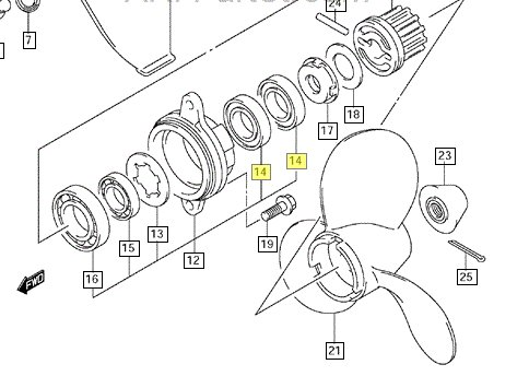 Piese de schimb Motoare Barca :: Piese motor Evinrude