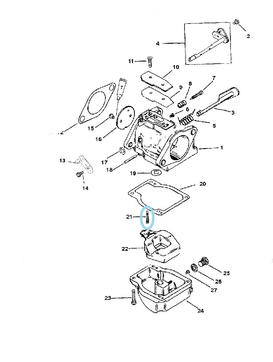 Cui Pontou Carburator Mercury 30-125 CP