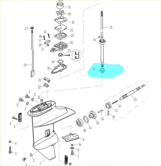 Pinion atac Parsun / Mercury / Tohatsu 6-9.8
