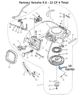 Opritor starter manual Parsun / Yamaha 9.9-15 CP