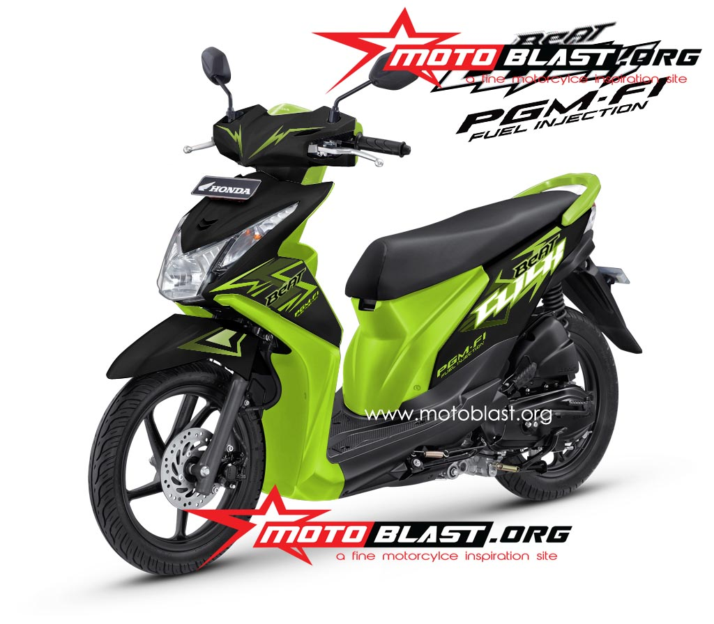 Decal Design untuk Honda Beat FI Black Click   MOTOBLAST