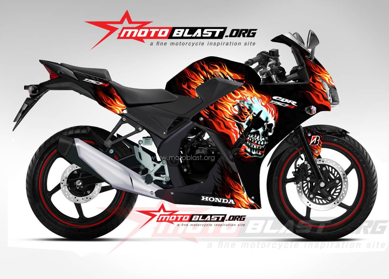 Modif Striping Honda CBR150R Lokal  Black Fire  MOTOBLAST