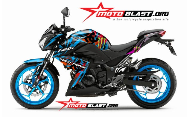 modif-striping-Kawasaki-Z250-black-DC STAR2