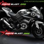 modif striping kawasaki ninja 250r FI black - green plus4