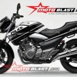 modif striping Suzuki Inazuma 250 - black-POLICE2