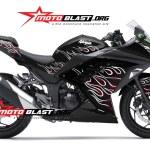 ninja 250 BLACK- FIRE-motoblast