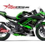 ninja 250 GREEN - MONSTER-motoblast-new