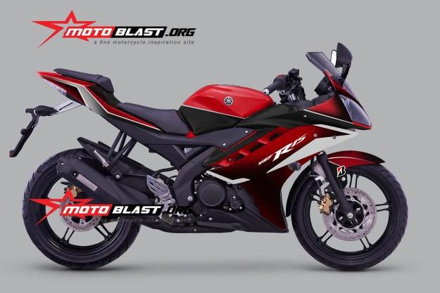 YAMAHA R15 - RED - motoblast1